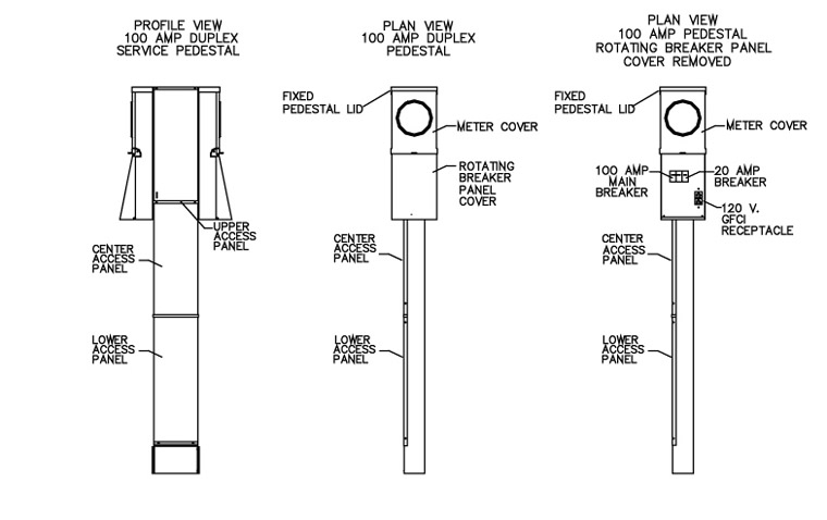 Mobile Home Electrical Service Pedestal 100 Amp Illustrated 760 mobile home wiring diagram dolgular com  at cos-gaming.co